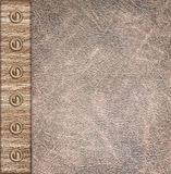 Beige leather vintage background Royalty Free Stock Photography