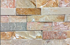 Beige or light brown colors tile stone wall texture.Wall pattern or abstract background. Stock Image