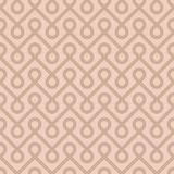 Beige Linear Weaved Seamless Pattern. Royalty Free Stock Photography