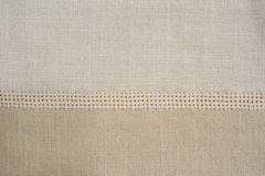 Beige linen pattern close up Royalty Free Stock Photo