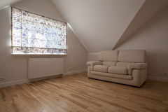 Beige living room. New living room in bright colors, modern interior Royalty Free Stock Photos