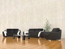 Beige Living room. Set of sofas Stock Photography