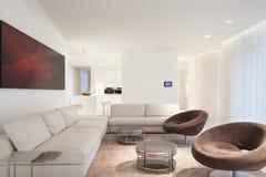 Beige luxury living room Stock Image