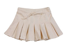 Beige miniskirt Royalty Free Stock Images