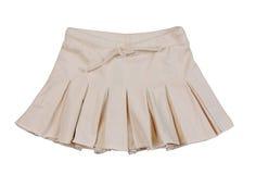 Beige miniskirt. Isolated on white Royalty Free Stock Images