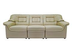 Beige modernes Sofa Lizenzfreies Stockfoto