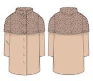 Beige modischer Mantel Stockbilder