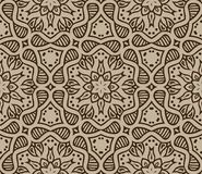 Beige moroccan ornament in vector. Beige moroccan ornament, vector seamless pattern Stock Image