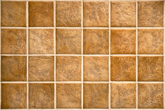Beige mosaic ceramic tiles for wall or floor. Stock Image