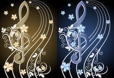 Beige muzikale achtergrond Royalty-vrije Stock Afbeeldingen