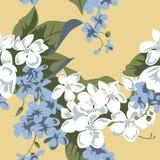 Beige naadloos bloemenpatroon Royalty-vrije Stock Fotografie