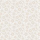 Beige naadloos bloemenpatroon Vector illustratie Royalty-vrije Stock Afbeeldingen