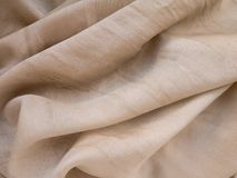 Beige natural silk background Stock Image