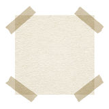 Beige note paper with adhesive tape on white Royalty Free Stock Photos