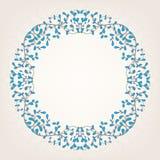 Beige och blå ram Royaltyfri Fotografi