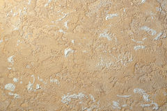Beige ocher color relief plaster Royalty Free Stock Photos