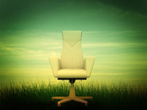 Beige office armchair Stock Images