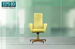 Beige office chair Stock Photography
