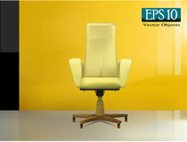 Beige office chair Royalty Free Stock Photos