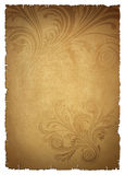 Beige old paper. With pattern Stock Image