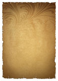 Beige old paper. With pattern stock illustration
