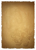 Beige old paper. With pattern Stock Photos