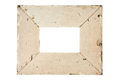 Beige old picture frame Stock Image