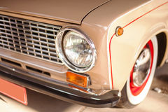 Beige old russian restored car Royalty Free Stock Photos