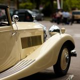 beige oldtimer Royalty Free Stock Images