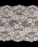 Beige openwork lace Royalty Free Stock Photos
