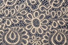 Beige openwork lace background Stock Photo