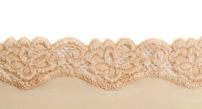 Beige  openwork lace. Stock Photos
