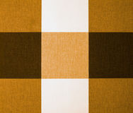 Beige, Orange and Brown Gingham Tablecloth Stock Photo