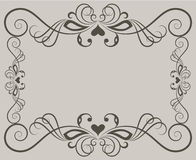 Beige ornate floral frame Royalty Free Stock Image