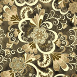 Beige paisley with flowers. On a dark abstract background Royalty Free Stock Photos