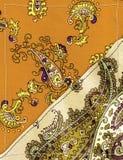Beige Paisley-Hintergrund Lizenzfreies Stockbild