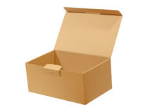 Beige paper box.Isolated. Royalty Free Stock Photography