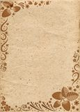 Beige paper with pattern from elements of russian khokhloma Stock Image