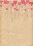 Beige paper with pattern in form of hearts-balls. Love. Valentine's Day Royalty Free Stock Photos