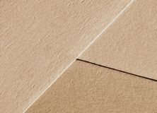 Beige paper sheets background, organic texture royalty free stock images
