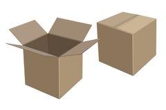 Beige Pappschachteln Keep liefern Vektor Stockfotos