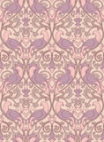 Beige pattern with birds. Beige floral pattern. Seamless filigree ornament. Stylized template for wallpaper, textile, curtain, shawl, carpet and any surface Stock Image