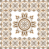 Beige pattern  with ornament Royalty Free Stock Photo