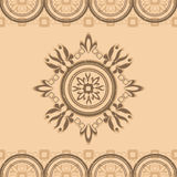 Beige pattern  with ornament Royalty Free Stock Image
