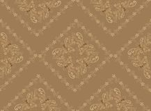 Beige pattern in the rococo style Stock Photo