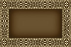 Beige patterned frame Royalty Free Stock Images