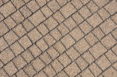 Beige paving stones Stock Images