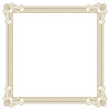 Beige photo frame Stock Photography