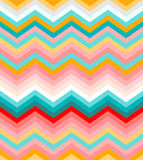 Beige, pink, red and turquoise chevron seamless. Abstract pattern background vector Royalty Free Stock Photography