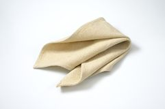 Beige place mat Royalty Free Stock Photography